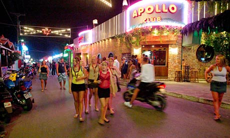 Malia, Crete, is a popular destination for young revellers