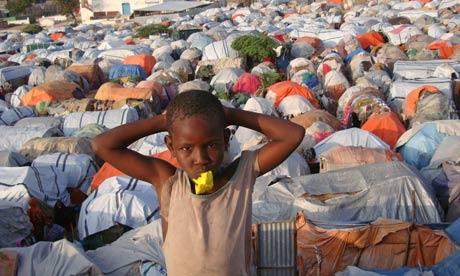 MDG : a displaced Somali child