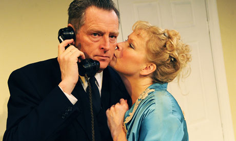Sara Crowe (Olivia Brown) and Michael Simkins (Sir John Fletcher) in Less Than Kind