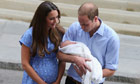 Royal baby leaves hospital