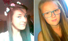 Chloe Fowler and Tonibeth Purvis, who died in the river Wear