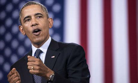 US President Barack Obama speaks at Knox