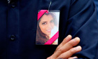 Anni Dewani's relatives wore her picture on their clothes at Westminster crown court