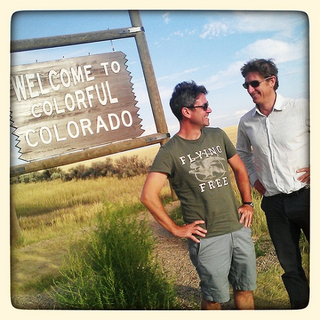 Marcel and Andy make their way through Colorado