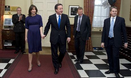Prime Minister, David Cameron at No10 Downing Street, London, Britain - 11 May 2010