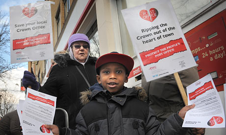 Post Office workers on strike in March 2013