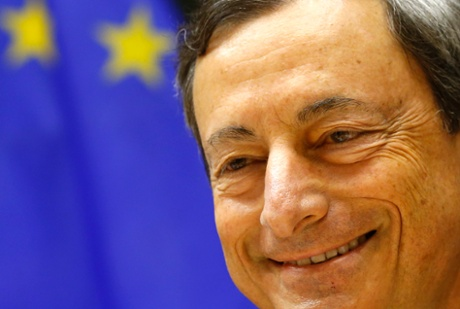 European Central Bank (ECB) President Mario Draghi takes part in the European Parliament's Economic and Monetary Affairs Committee in July 8, 2013.