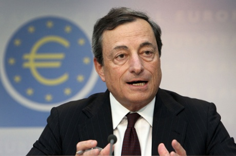 Mario Draghi, President of the European Central Bank, ECB as he addresses a press conference in Frankfurt am Main, central Germany. The crisis of the euro zone in 2012 brought dramatic months.
