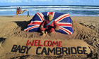 welcome baby cambridge sand sculpture