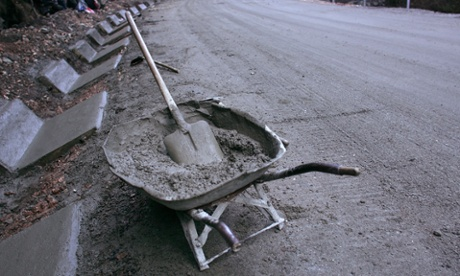 Concrete is the economist's friend. Photograph: Spencer Platt/Getty Images