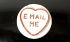 'Email me' love heart sweet