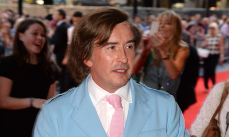 Steve Coogan dressed as Alan Partridge at the Alpha Papa premiere