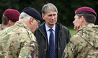 Defence secretary Philip Hammond talks to soldiers