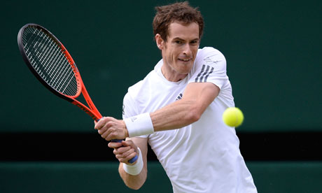 Andy Murray at Wimbledon 2013
