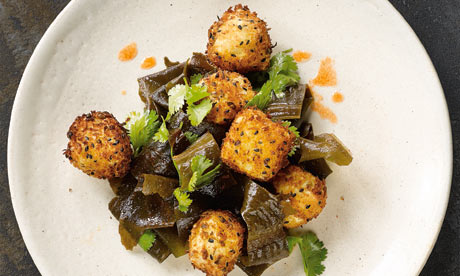 Yotam Ottolenghi's crusted tofu with wakame and lime