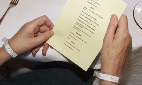 A hospital menu