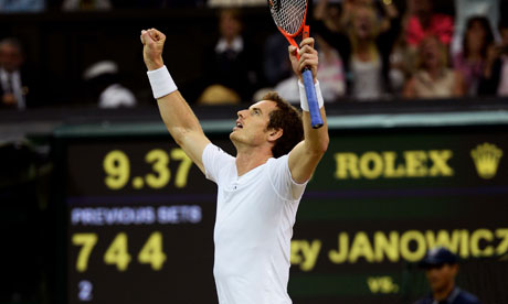 Andy Murray through to Wimbledon final after beating Jerzhy Janowicz