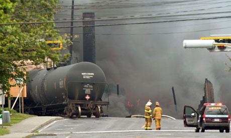 Quebec train fire