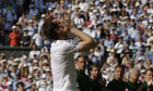 Britain's Andy Murray celebrates Wimbledon win