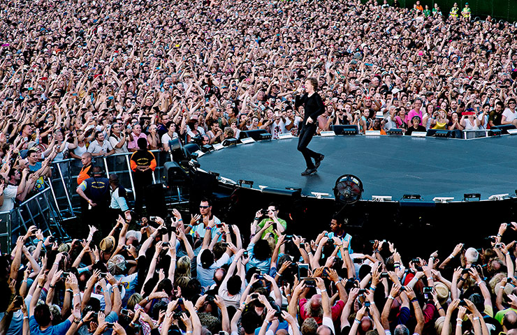 Rolling Stones Hyde Park: Mick Jagger wows the fans at the end of his runway