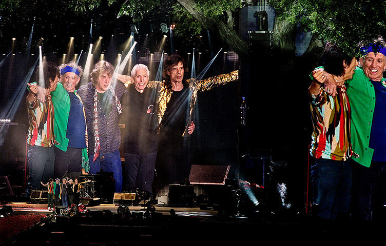 Rolling Stones Hyde Park: The band take a bow at the end of the show