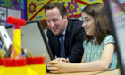 David Cameron visits school