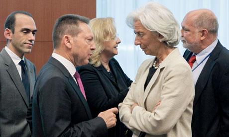 Ioannis Stournaras and Christine Lagarde