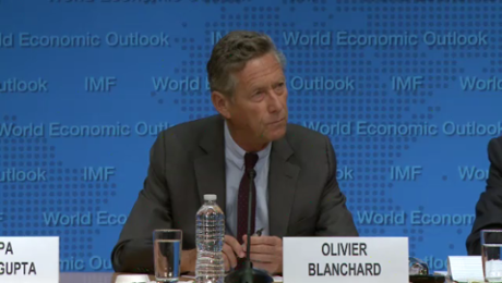 Olivier Blanchard, chief economist at the International Monetary Fund