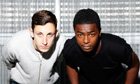 Channel 4's Top Boy actors Giacomo Mancini (and Malcolm Kamulete.