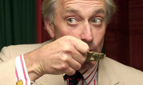 Neil Hamilton eating oysters