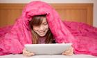 Girl uses iPad