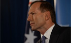 Tony Abbott during a press conference in Melbourne