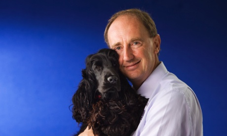 Cricket broadcaster Jonathan Agnew and Tino at the Edinburgh book festival.