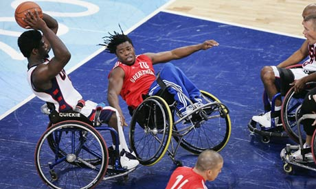 Adepitan playing against the US in the quarter-finals of the 2004 Paralympic Games in Athens.