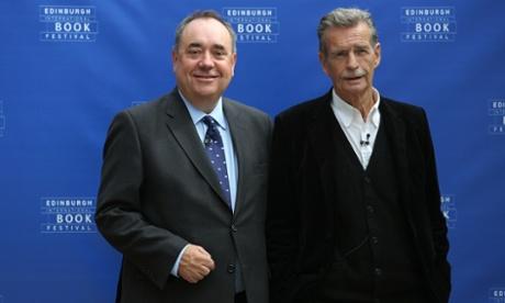 First citizens ... Alex Salmond (left), and William McIlvanney