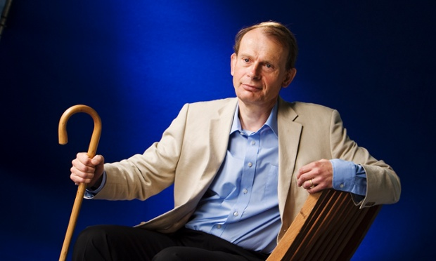 Broadcaster Andrew Marr seen before speaking at the Edinburgh book festival in his first public appearance after suffering a stroke.