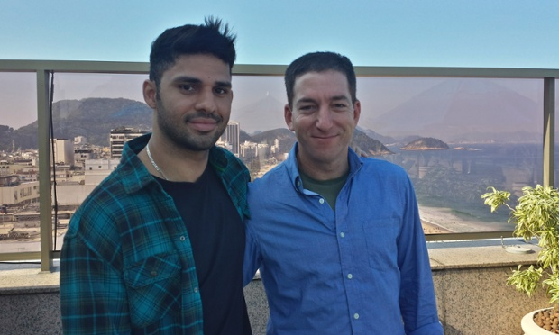 Guardian journalist Glenn Greenwald (right)| with his partner David Miranda