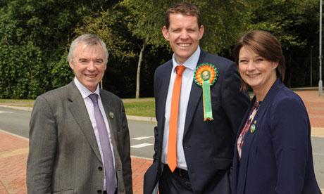 Former Ynys Môn AM Ieuan Wyn Jones with Rhun ap Iorwerth and Plaid Cymru leader Leanne Wood