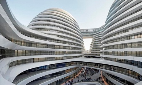 Alien arrival … the Galaxy Soho complex is accused of destroying Beijing's historic streets.