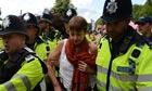 Caroline Lucas fracking arrest