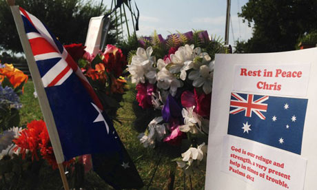 Christopher Lane roadside memorial