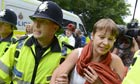 Anti-fracking protest at the Cuadrilla fracking site in Balcombe, Sussex, Britain - 19 Aug 2013