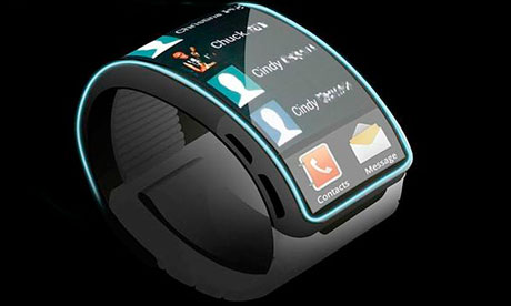 An artist's impression of the Samsung smartwatch