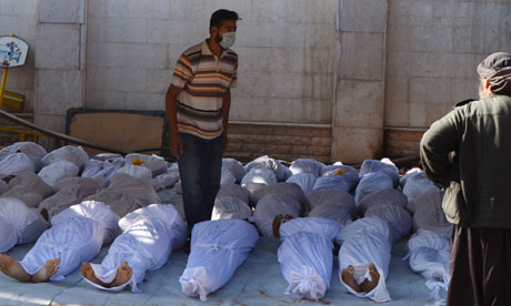 Syrian victims in Damascus