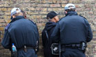 Police stop and search young black men in London