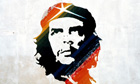 Head of Che Guevara painted on a wall