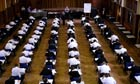 Children sitting exams