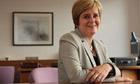 Deputy first minister of Scotland Nicola Sturgeon