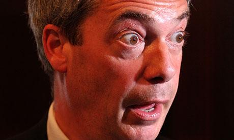 Eye-boggling: even Nigel Farage believes Ukip need to get a grip.