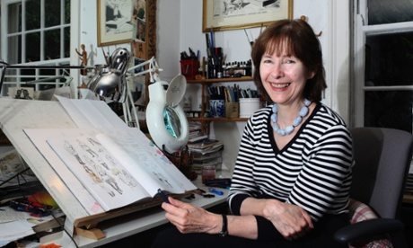 Posy Simmonds, who will be revisiting her classic Guardian comic strip Mrs Weber's Diary at his afternoon Photograph: Eamonn McCabe